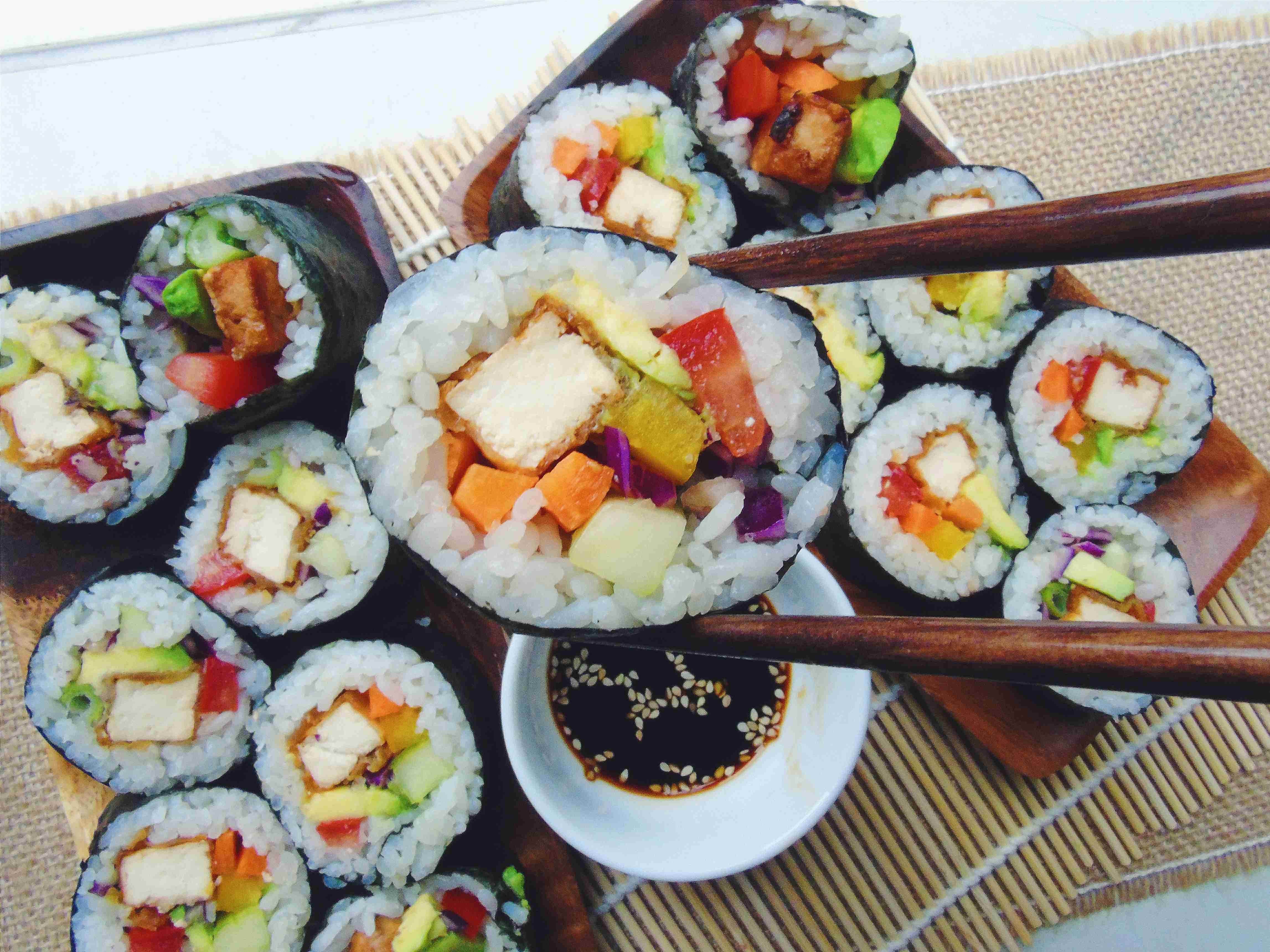 Sushi – colourful maki rolls