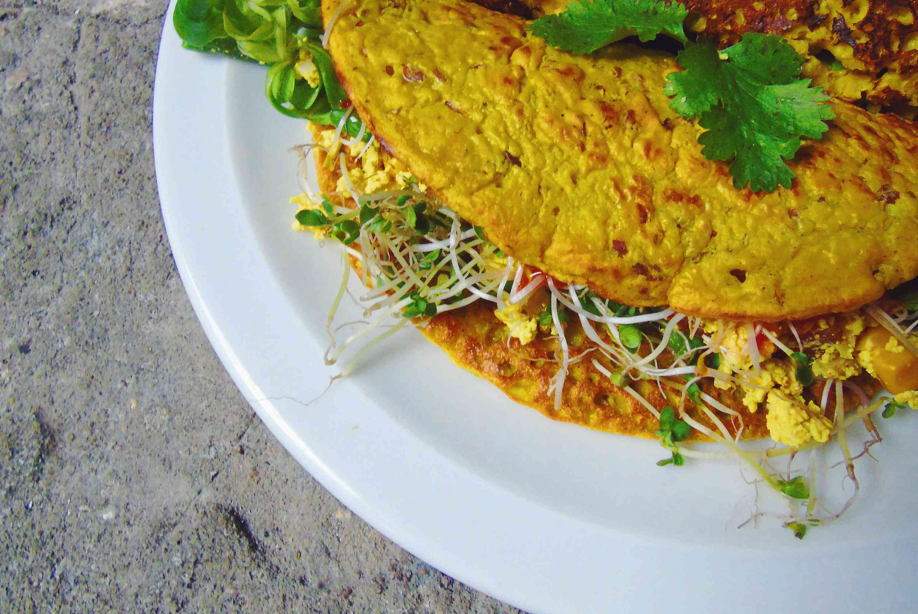 Filled chickpea pancake