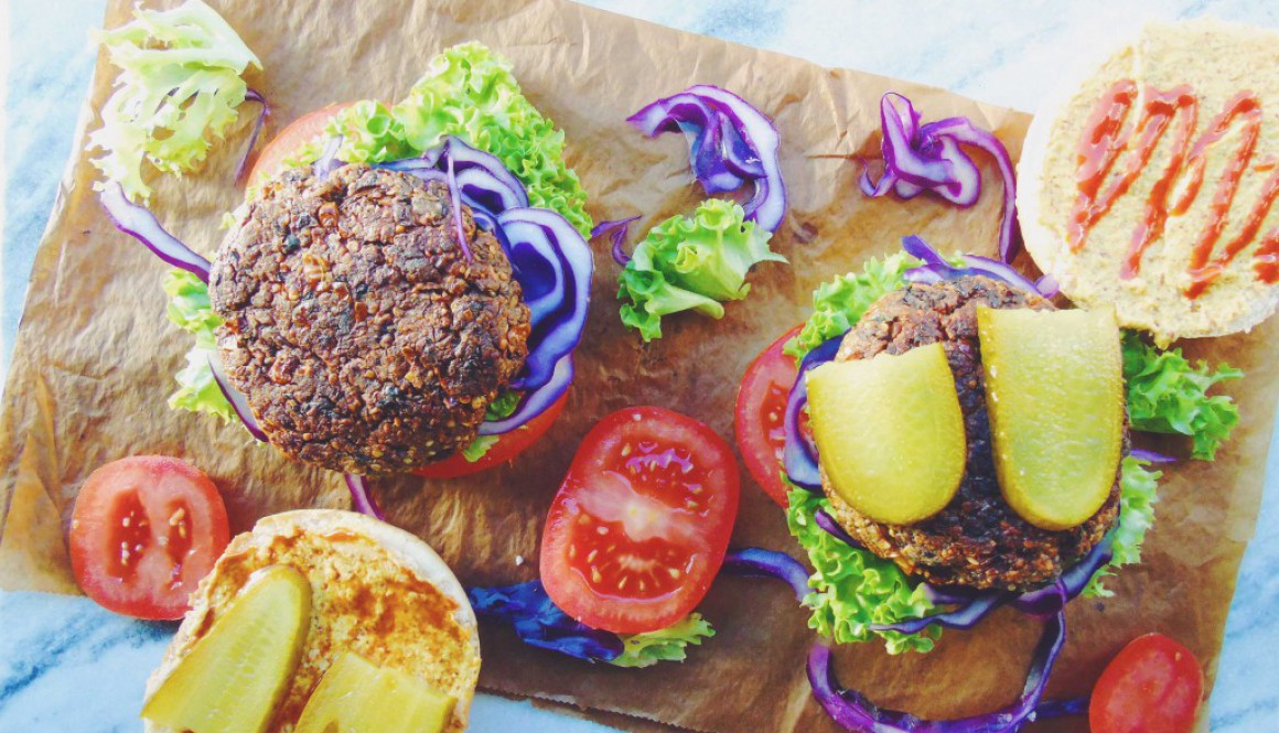 Tempeh / Black Bean Burgers