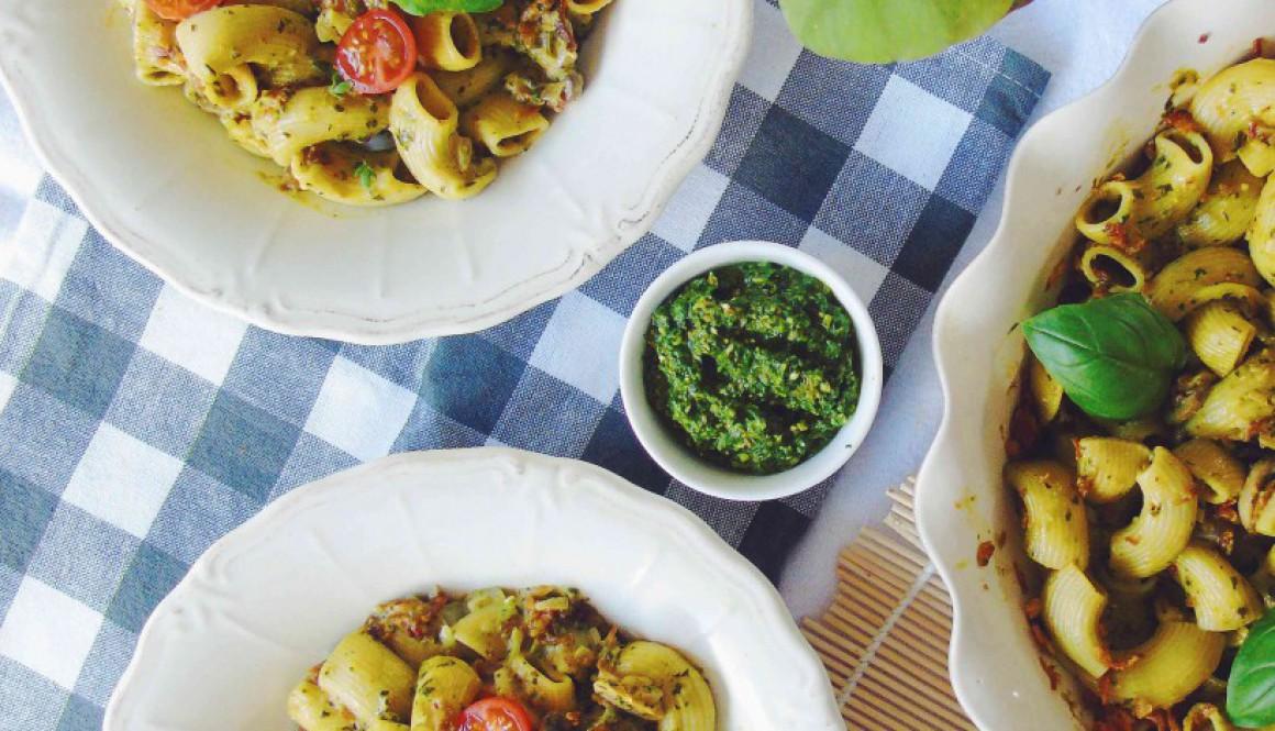 Spinach Pesto & Creamy Pasta