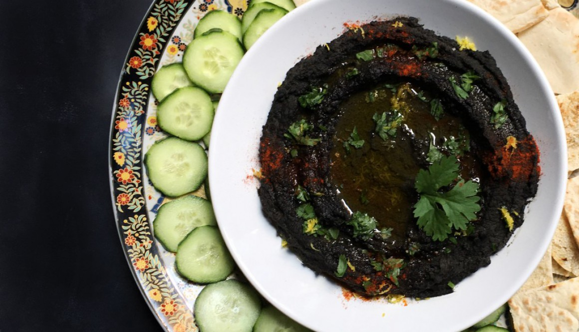 Black Hummus & Black Tahini – Halloween Edition