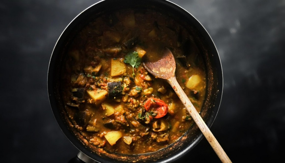 Oil Free Eggplant Curry