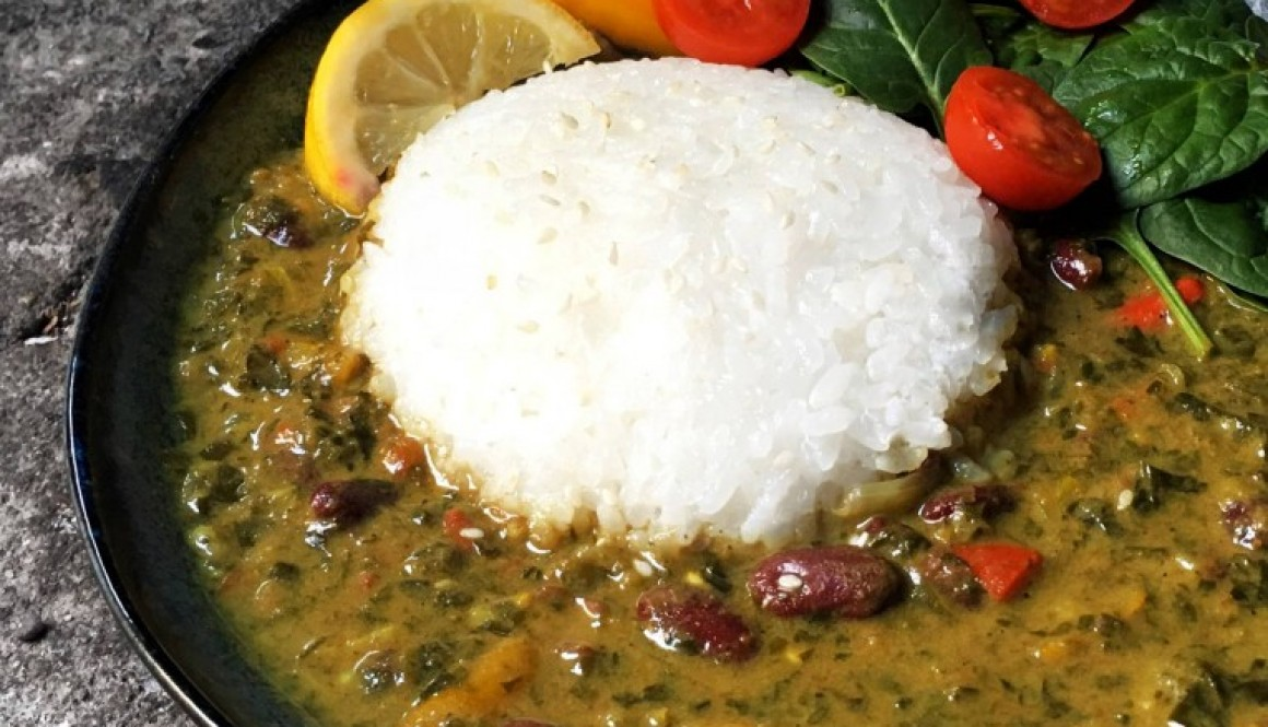 Coconut Curry Kidney Bean Stew