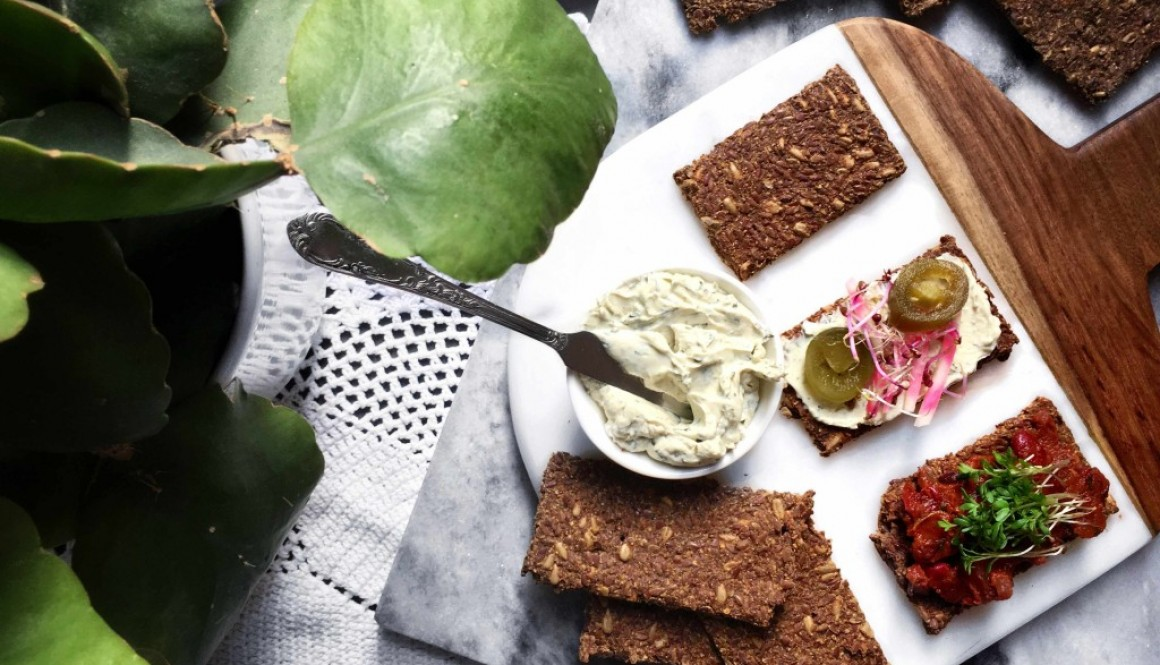 Simple Hearty Flax Crackers w/ raw option