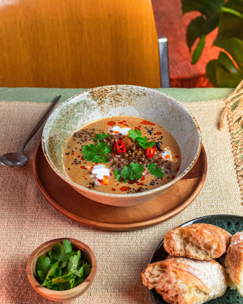 A Warming Lentil Coconut Soup